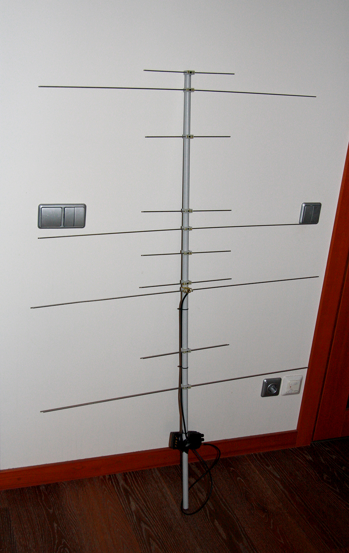 VHF UHF YAGI handheld antenna for satellite