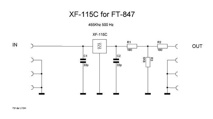 CW 500Hz filter for Yaesu FT-847
